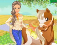 Barbies country horse online